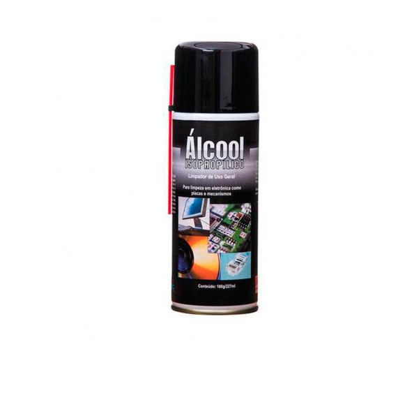 Alcool Isopropilico Spray Aerossol 160g 227ml Implastec
