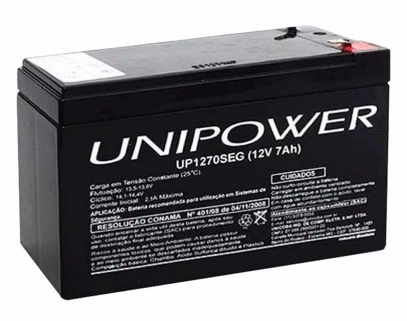 BATERIA SELADA 12V 7AH UP1270SEG 151X65X100MM UNIPOWER