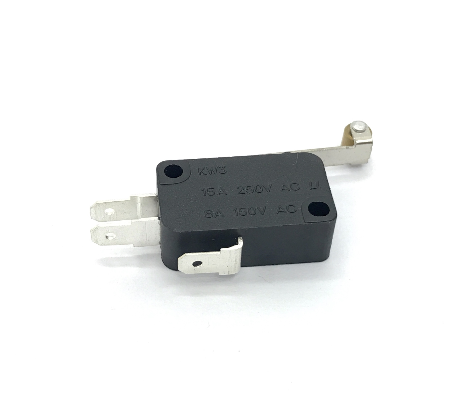 MICRO SWITCH KW3 15A 250V / 6A 150V (KW11-7) C/ HASTE E ROLDADA 27MM CQC